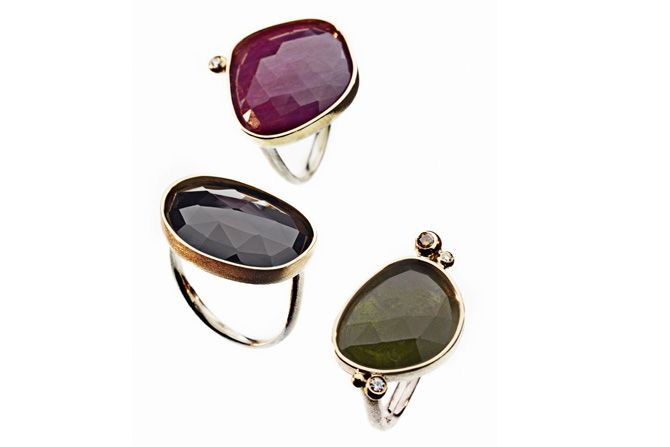 Rings with gemstone. Milas Jewellery