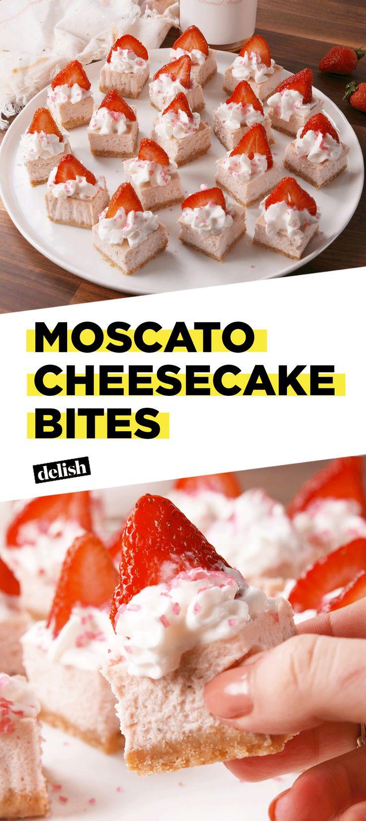 Moscato Cheesecake Bites