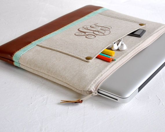 Laptop Case MacBook Pro Case Personalized by LittlePigeonCrafts, $80.00