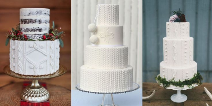 Cable-Knit Cakes Are the Coziest Winter Wedding Trend ...