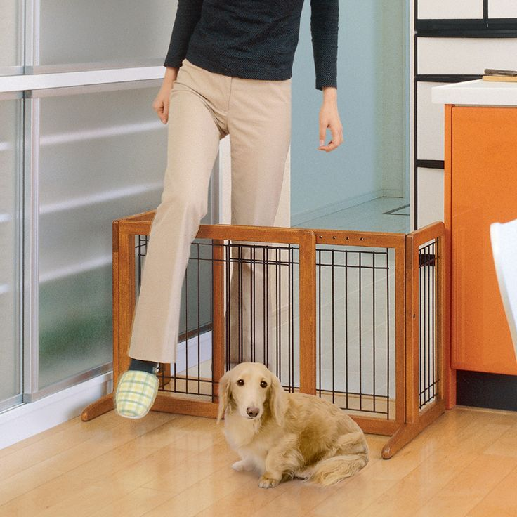Freestanding Dog Gate, Pet Playpen, Large Dog Crates