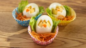 Make excitement this Easter with our cute chick breakfast eggs. Try making these with your kids or surprise them instead! How are you making easter egg-citing? #MakesEaster