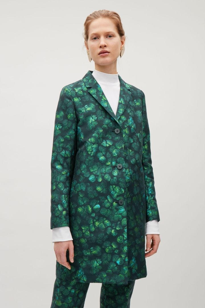 COS | Tailored jacquard coat