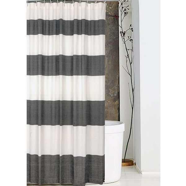 Noble Excellence Cabana Stripe Shower Curtain 40 Liked On Polyvore Featuring Home