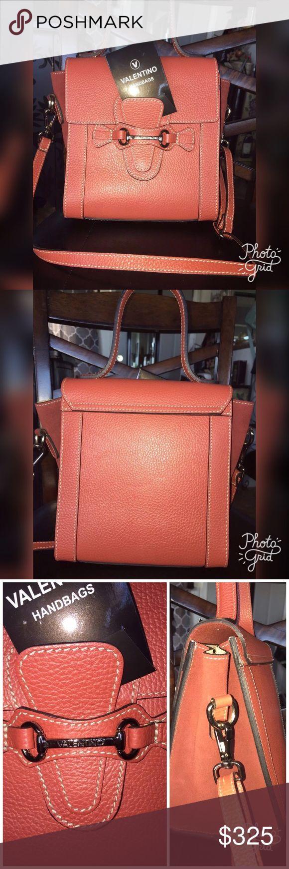 Valentino leather Agnes Mini cross body Valentino leather Agnes Mini cross body satchel with detachable strap. Size: 7.5 * 8 * 5.5 Valentino Bags Crossbody Bags
