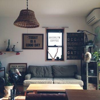 NY・ブルックリンのカフェっぽく。 ユニセックスな雰囲気が素敵です。