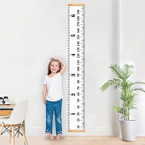 Toise amovible à suspendre dans une chambre d'enfants - Hauteur réglable - 200 x 20cm