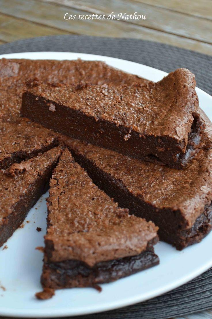 Les recettes de Nathou: Gâteau fondant au chocolat - Torta al cioccolato fondente