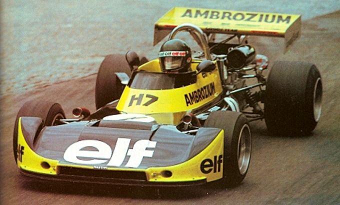 Jacques Laffite - Martini Mk 16 BMW M12/Schnitzer - Écurie Elf Ambrozium - XXIII Grand Prix de Rouen-les-Essarts - 1975 European Championship for F2 Drivers, Round 8
