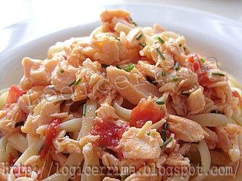Pasta al salmone fresco senza panna (bavette - linguine)