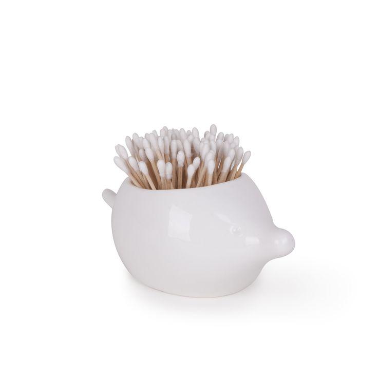 Amazon.com - Umbra Foresta Ceramic Bathroom Canister, Porcupine - Cotton Ball And Swab Holders