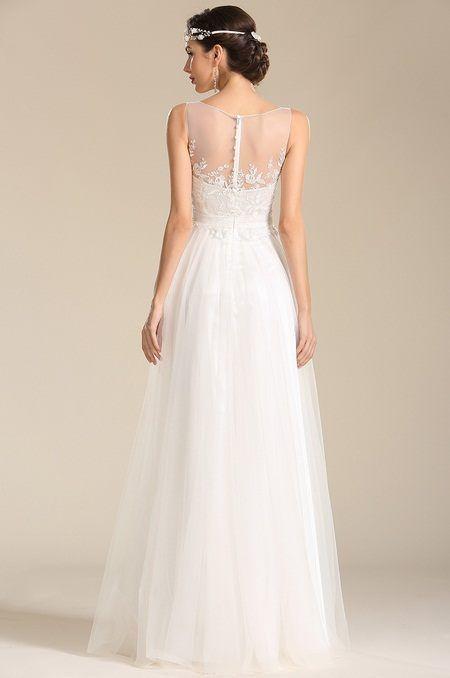 Ľahučké šifónové svadobné šaty S01408
