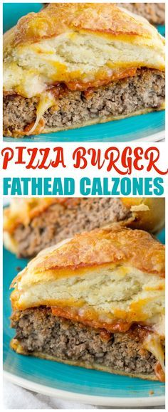 Love Pizza? Love burgers? Then you will love them together! Low carb fathead calzone pizza burgers taste great and they're keto too. Everyone will devour these.