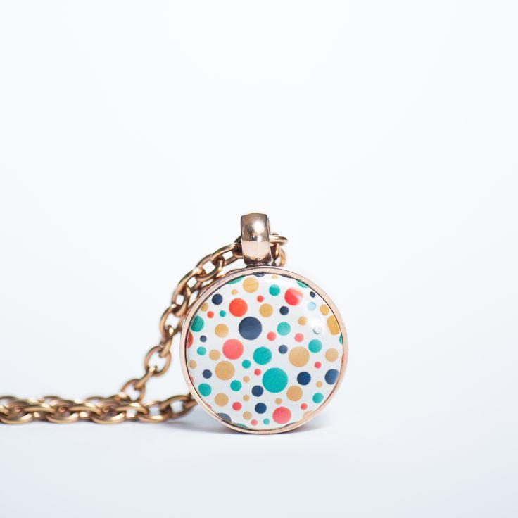 Rosegold Pendant with mini clip clasp necklance. Retro button www.twolyttelbuttons.co,nz