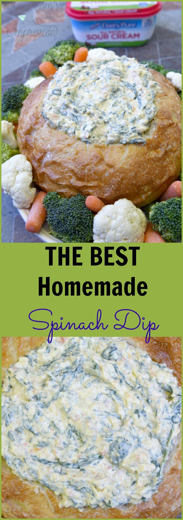 This Homemade Spinach Dip recipe uses fresh spinach and vegetables to make it stand out from the rest. You won't believe how much better it tastes when using fresh ingredients and its quick and easy to make.