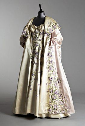 Ball Gown w/ Evening Coat  Pierre Balmain - Autumn/Winter 1955.  I so wish I had somewhere that I could wear this