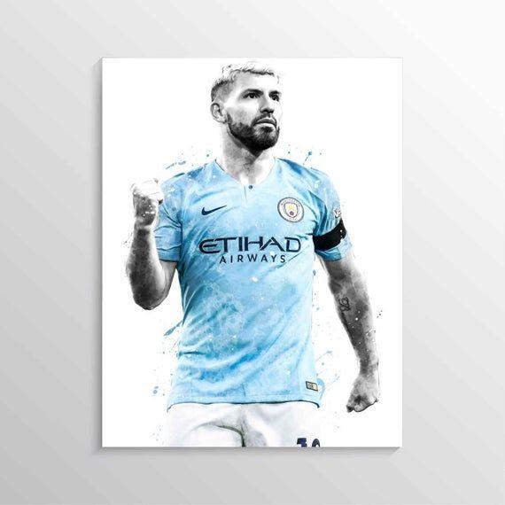 Poster Vincent Kompany Wall Art Manchester City Print Gift Home Decor