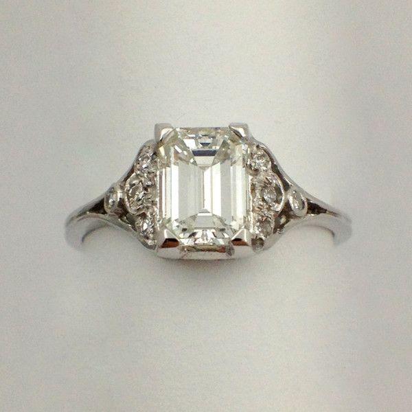Vintage Emerald Cut Diamond Rings 36