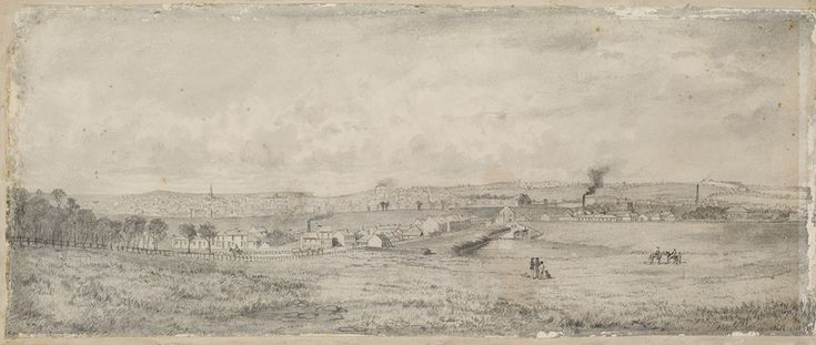 Site of new university,the University of Sydney in 1854.
