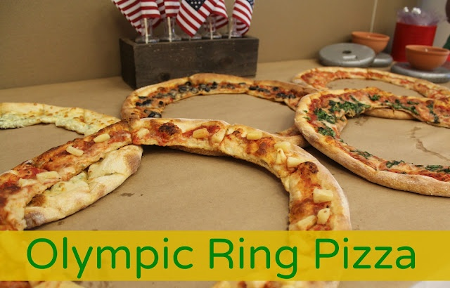 Moore Minutes: Let the Games Begin! Olympic rings pizza #olympics #pizza