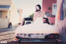 Lace, mermaid wedding dress with bolero