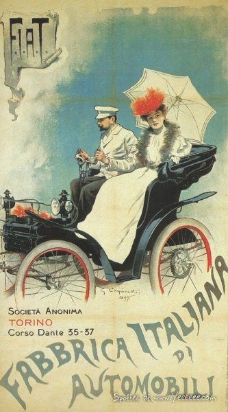 Vintage Italian Posters ~ #illustrator #Italian #posters ~ Vintage Car Advertisement Posters