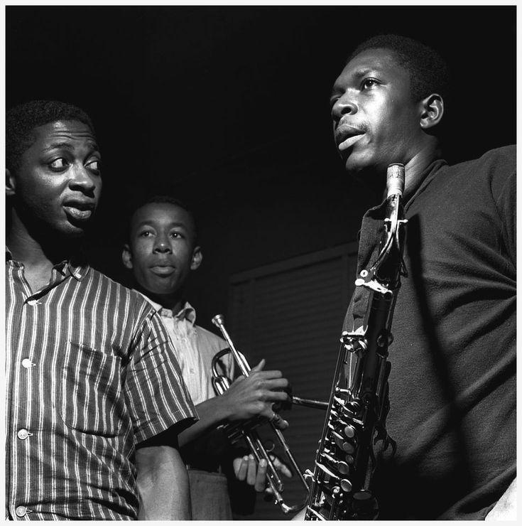 Curtis Fuller, Lee Morgan, and John Coltrane at Coltrane's Blue Train