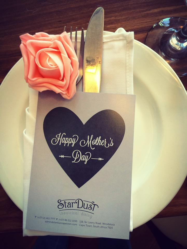 mother's day menu at stardust theatrical dining cape town