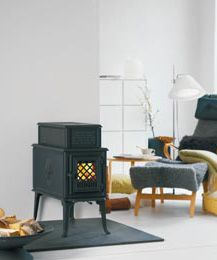 Another good option for a small woodstove, since it has a cooking surface on top for emergency use.