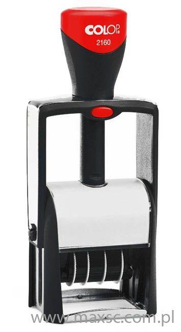 Datownik Colop 2360 , Typowy metalowy datownik . Zwarta, ergonomiczna obudowa, ciekawy design . Doskonałe  i niezawodne datowniki znanej firmy Colop .