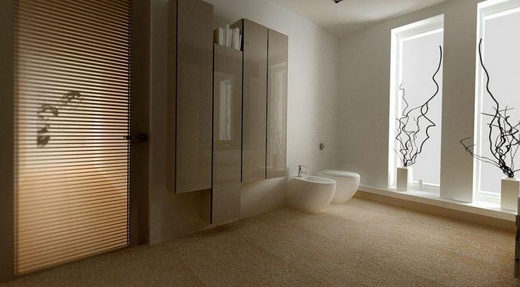 Calming Interior Design Concept with Neutral Colors : White And Cream Minimalist Bathroom Design