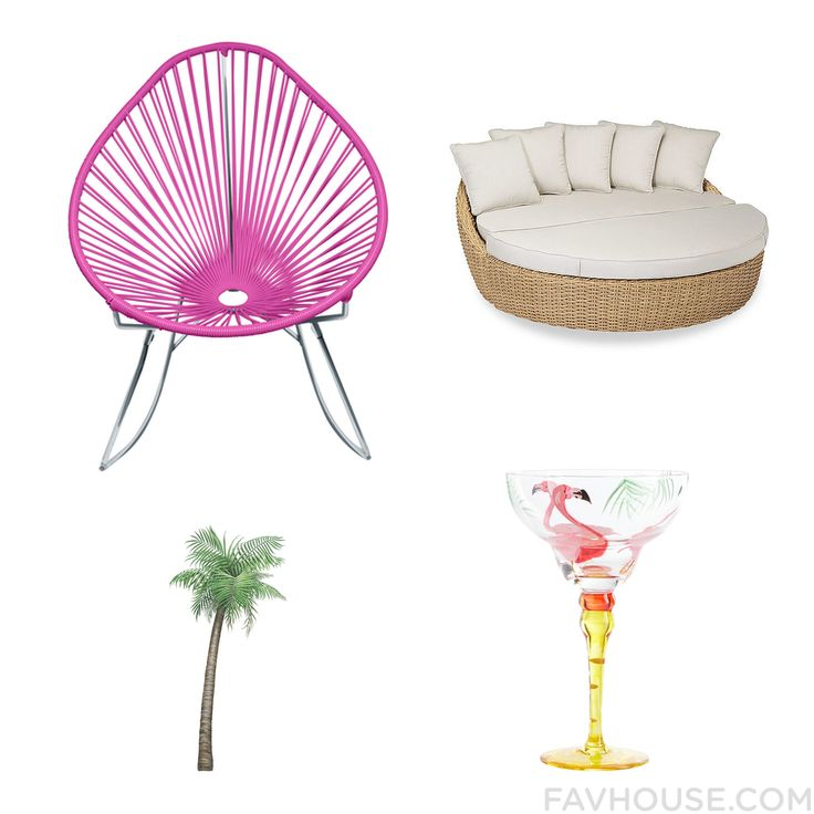 Interior Idea Featuring Chair Outdoor Daybed Pier 1 Imports Drinkware And Tropical Palm From June 2016 #home #decor