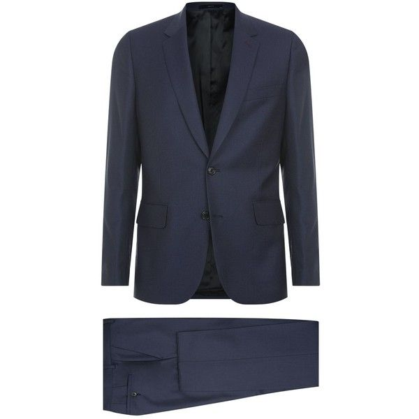 Paul Smith Birdseye Wool Suit (1,194,735 KRW) ❤ liked on Polyvore featuring men's fashion, men's clothing, men's suits, mens slim suits, paul smith mens suits, paul smith mens clothing and mens slim fit suits