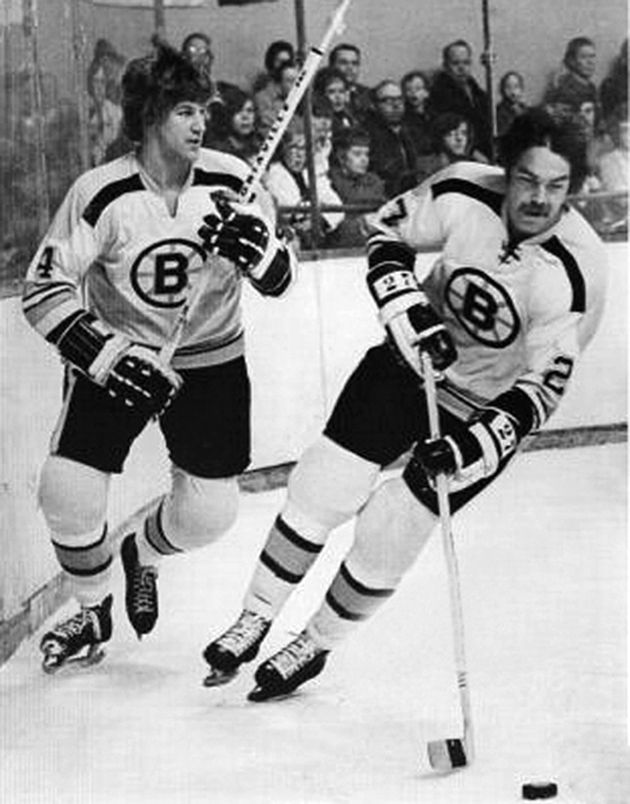 Bobby Orr skating With Derek Sanderson