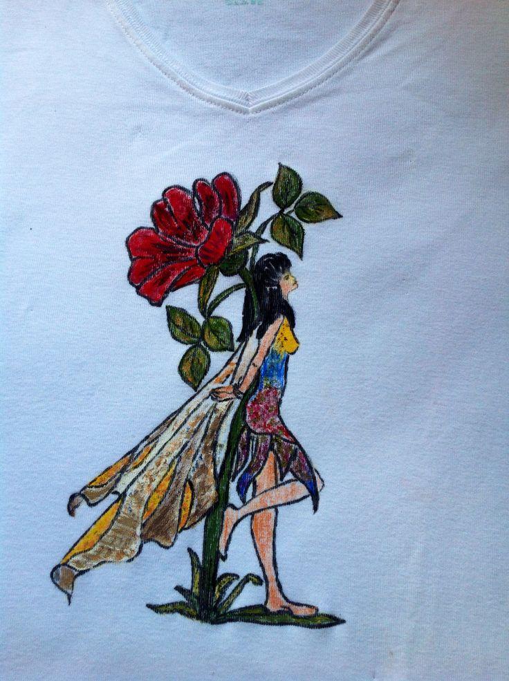 T-shirt üzerine tekstil boyası ile çalışmam.