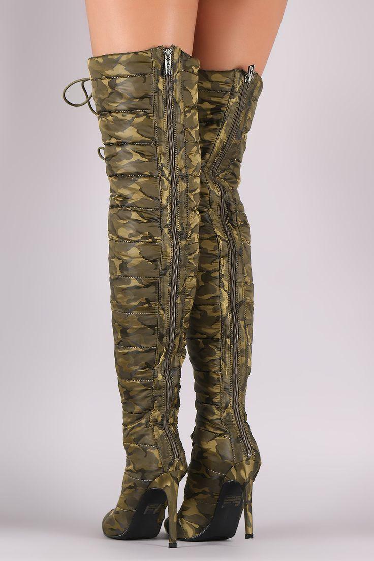 Camouflage Puffer Boots   UrbanOG