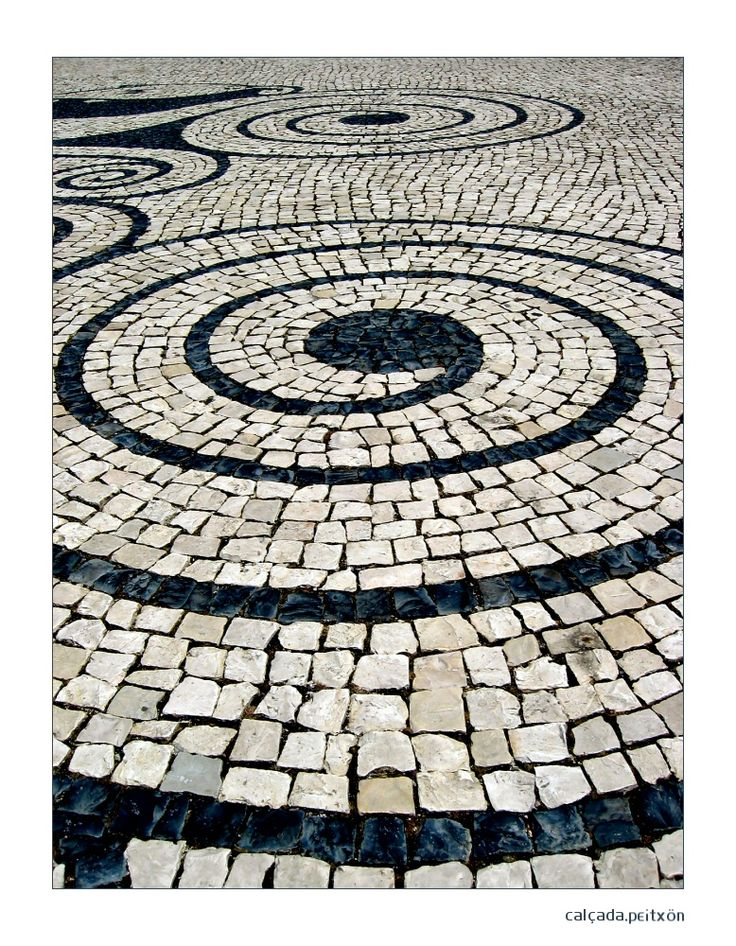 Traditional portuguese pavement