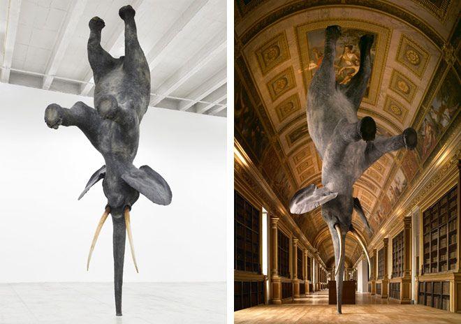 Daniel Firman's Balancing Elephant   HUH.