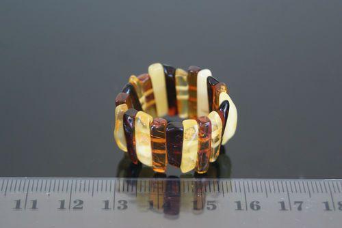 @Joyas de ámbar (Amber jewelry) Anillo elastico de ámbar baltico (baltic amber elastic ring) 2,9gr.