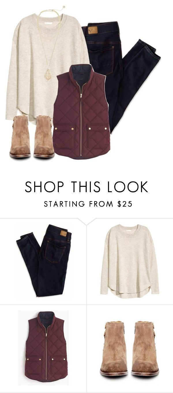 """It's December first!!❄️"" by keileeen ❤ liked on Polyvore featuring American Eagle Outfitters, H&M, J.Crew, H by Hudson and Kendra Scott"