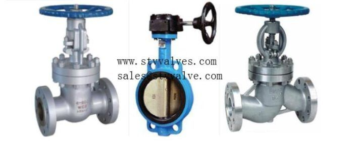 Difference Between Gate Valve Globe Valve And Butterfly Valve