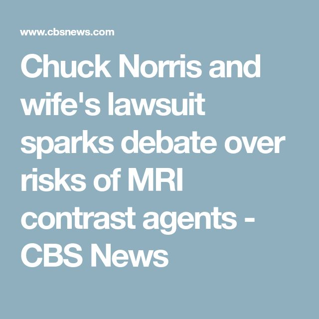 Chuck Norris and wife's lawsuit sparks debate over risks of MRI contrast agents - CBS News