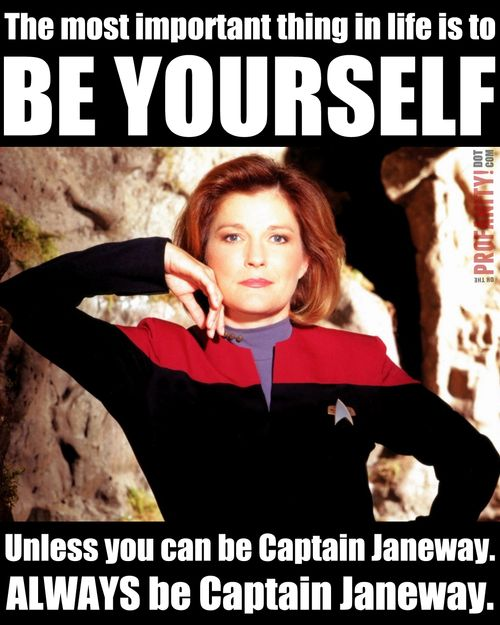 And a truly inspiring captain, scientist, and space badass. | 46 Times Captain Janeway Was Outta Control Sassy