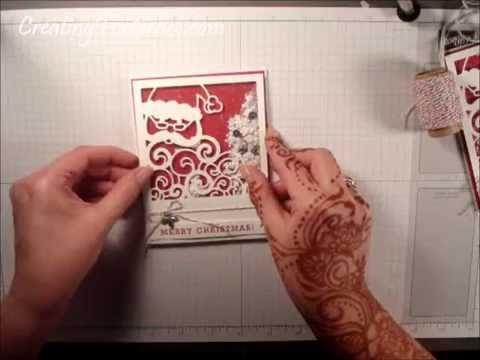Stampin Up Detailed Santa thinlet shaker card video tutorial - YouTube