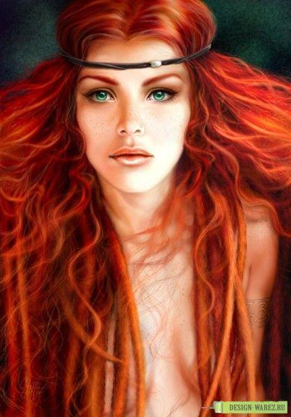 рыжие кудрявые волосы короткие - Поиск в Google