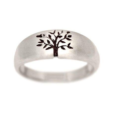 turtlelove.com   Tree of Life Wedding Ring White Gold