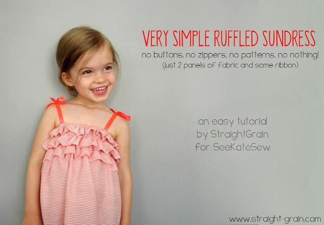 Simple Ruffled Dress Tutorial // straightgrain for see kate sew