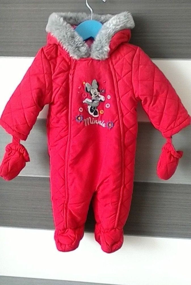 4ec77a9da31e Baby Girls Disney Minnie Mouse Snowsuit 3-6 Months Disney Baby BHS  BHS   Snowsuit