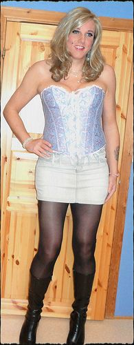 Blue corset | I love crossdressers & trannies. | Pinterest | Blue ...