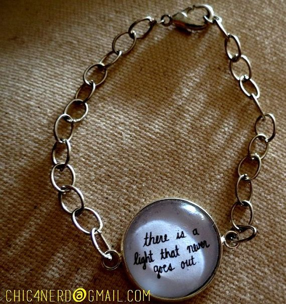 """Bracciale Bangle Bracelet Chain  """"There is a Light that never goes out"""" _The Smiths Morrisey cameo music british pop rock"""